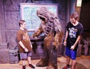 Chewbacca sees my son's button