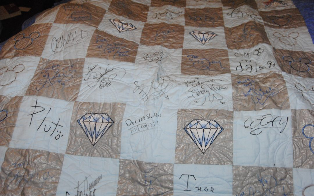 A Unique Disney Vacation Souvenir: A DIY Disney Character Autograph Quilt!