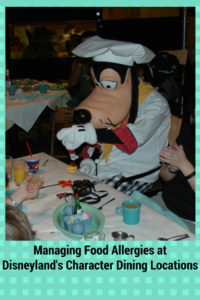 Food Allergies at Disneyland's Character Dining Locations