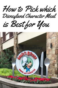 How to Pick Which Disneyland Character Meal is Right for You