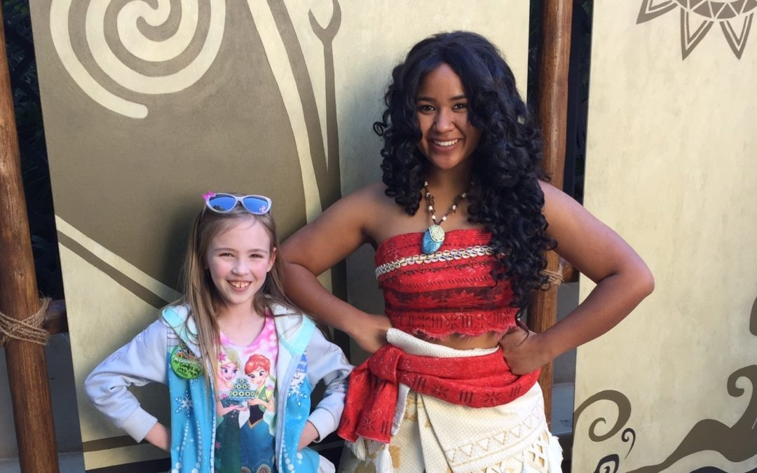 Throwback Thursday: Meeting Moana at Disneyland