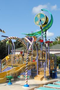 French Quarter aquatic play area