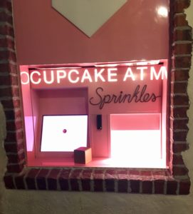 The Sprinkles Cupcake ATM at Disney Springs.