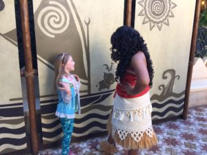 Meeting Moana at Disneyland