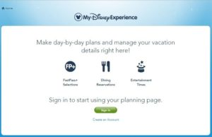Disney World's My Disney Experience and resort online check-in.