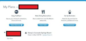 Disney World's myDisneyexperience and online check-in