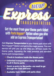 What is Disney World Express Transportation? Add-on transportation option with Park Hoppers