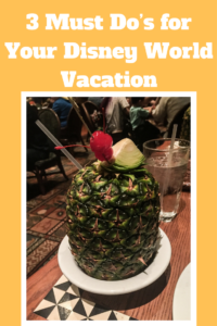 3 Must Do's for Your Disney World Vacation That You Don't Want to Miss!