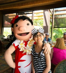 Allergy-Friendly character meal at 'Ohana in Walt Disney World