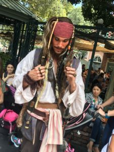pirates of the caribbean, captain jack sparrow, celebrating at disney, disneyland, disney movies, meeting a character at disney