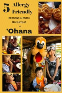 Allergy-Friendly meal at 'Ohana in Walt Disney World
