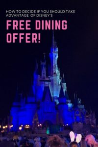 free dining offer, planning for Disney vacation, Disney Dining Plan tips