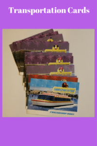 Free collectibles from Walt Disney World, transportation cards
