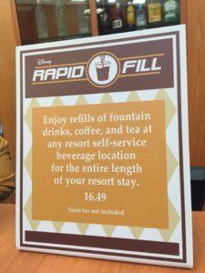 refillable resort mug, Disney Dining plan