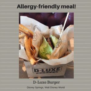 Allergy-Friendly Burger and Fries at Disney World