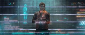 Star Lord giving an obscene gesture with his hand