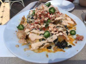 lobster nachos at the cove bar / disneyland bucket list