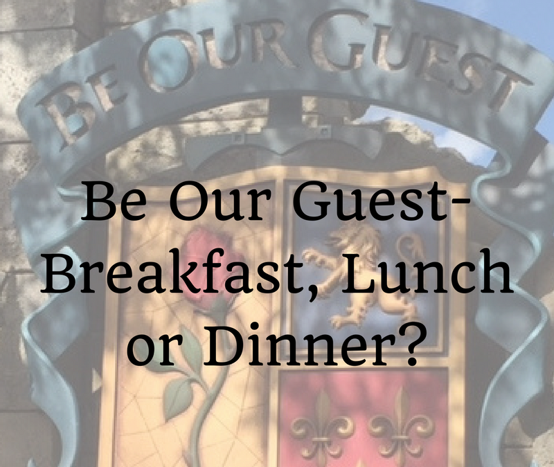 Throwback Thursday: Be Our Guest – Breakfast, Lunch, or Dinner?