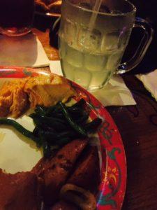 Food at Biergarten Restaurant in Germany Pavillion