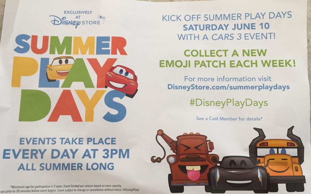Free Summer Fun at the Disney Store! #DisneyPlayDays