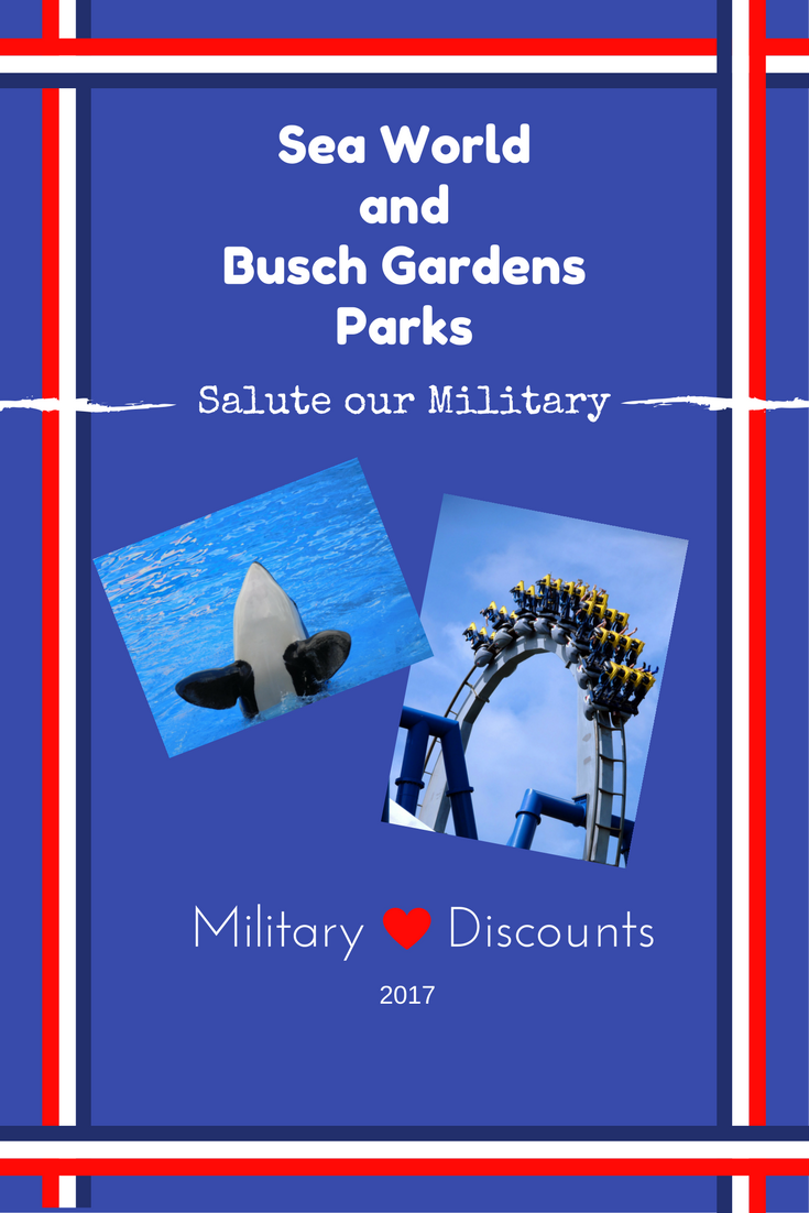 2017 military discounts outside of disney part 2 free admission to busch gardens sea world