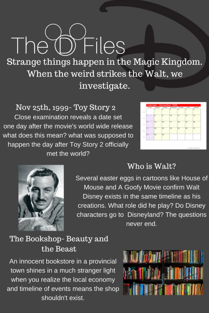"""The D Files"", solving Disney mysteries and fan theories,"