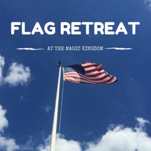 Flag Retreat Magic Kingdom
