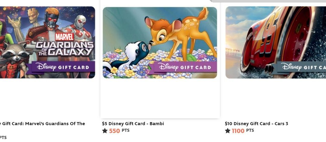 Earn Disney Gift Cards and More from Disney Movie Rewards!