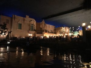 View of San Angel Inn restaurant from Gran Fiesta Tour boat