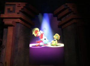 Panchito and Jose searching for Donald on Gran Fiesta Tour at Epcot