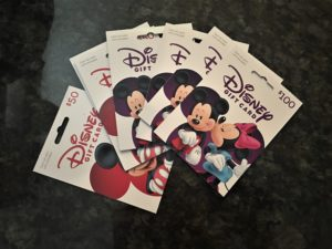 Disney gift cards, discount, travel hack