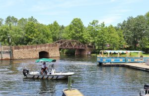 View of boats on the river at Walt Disney World's Port Orleans Riverside