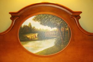 Artwork in the headboard at Walt Disney World's Port Orleans Riverside