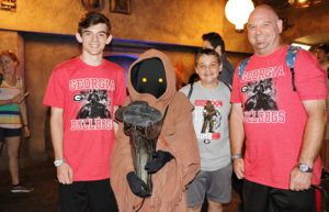 Jawas at Launch Bay in Hollywood Studios