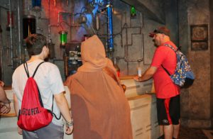 Fun with a Jawa at Mos Eisley at Hollywood Studios
