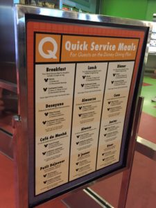 Walt Disney World Dining Options: Landscape of Flavors at Art of Animation Resort: Menu