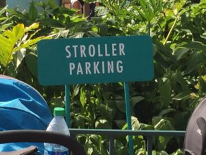 Always parkyour stroller in designated spots / Even Big Kids Need A Stroller!