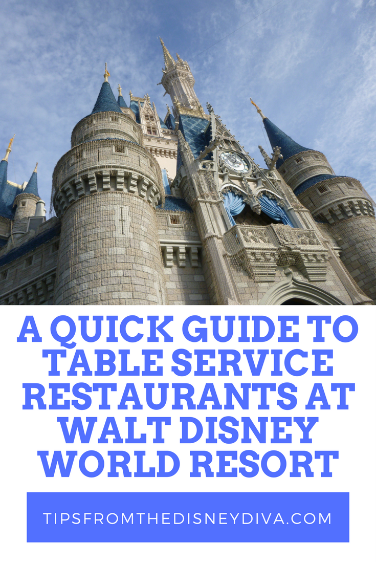 A Quick Guide To Table Service Restaurants At Walt Disney World - Walt disney world table service restaurants