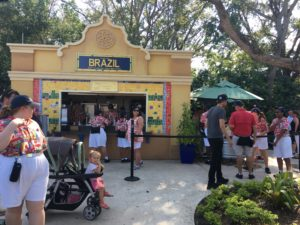 Epcot International Food and Wine festival, Brazil, kiosk, taste, World Showcase
