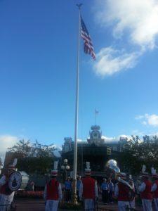 Does Disney hire veterans? Disney jobs for the military.Magic Kingdom Flag Retreat