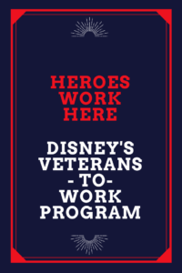 Does Disney hire veterans? Disney jobs for military.