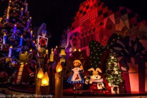 Small World Holiday Overlay Disneyland