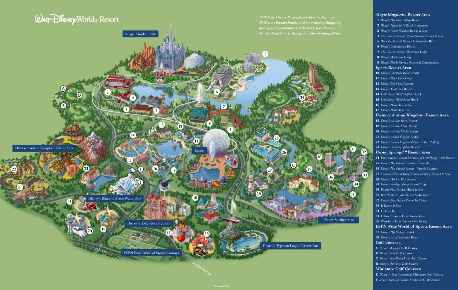 Why should we stay at a disney value resort tips from the disney map of disney world gumiabroncs Gallery