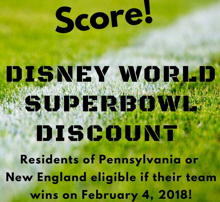 Attention Pennsylvania and New England Residents: SCORE a Discount at Disney's Swan & Dolphin if your team wins the Superbowl!