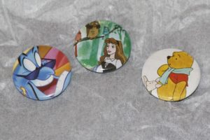 Hand Crafted Pin Back Buttons From Happy Zae Studio