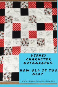 Disney Character Autographs: How Old Is Too Old?