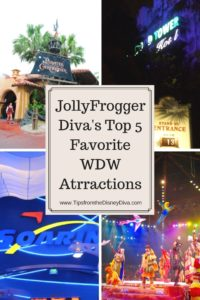 JollyFrogger Diva's Top 5 Favorite WDW Attractions