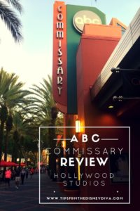 ABC Commissary counter service restaurant in Disney Hollywood Studios