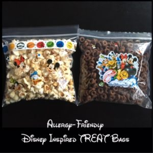 Disney Themed, Allergy-friendly Treat Bags