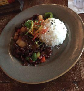 Korean Beef at Yak & Yeti Restaurant